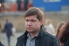 <strong>Также на площадь пришел глава Владивостока Виталий Веркеенко с семьей</strong>