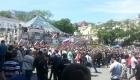 Участники антикоррупционной акции на Привокзальной площади Владивостока