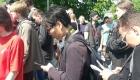 Представитель иностранной прессы присутствовал на акции у памятника Макарову