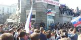 Выступлением депутата Законодательного собрания Приморского края Артема Самсонова уличная акция фактически завершилась
