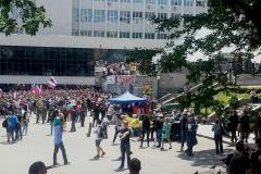 Привокзальная площадь во время фестиваля казачьей культуры