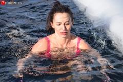 <strong>Одна из популялизаторов зимнего плавания Наталья Аксенова</strong>
