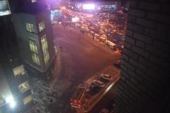 <strong>Оцепленная площадь Семёновская (вид из окна 8 этажа соседнего здания)</strong>
