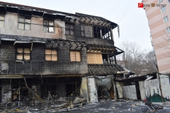 """<strong>Серьезный пожар произошел вечером 15 января в районе остановки «Гайдамак». Горел супермаркет """"Фреш 25""""</strong>"""