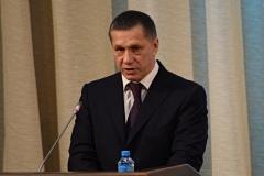 <strong>Первым перед публикой выступил полномочный представитель президента на Дальнем Востоке Юрий Трутнев</strong>