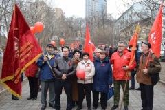 <strong>«Красный марш» традиционно стартовал от остановки общественного транспорта «Дальзавод» и завершился на центральной площади Владивостока у памятника Борцам за власть Советов на Дальнем Востоке</strong>
