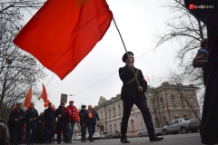 <strong>Горожане несли советские знамёна</strong>