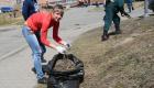 <strong>Все разбились на команды и приступили к непосредственно к работам: сбору мусора и сухой травы и побелке деревьев</strong>