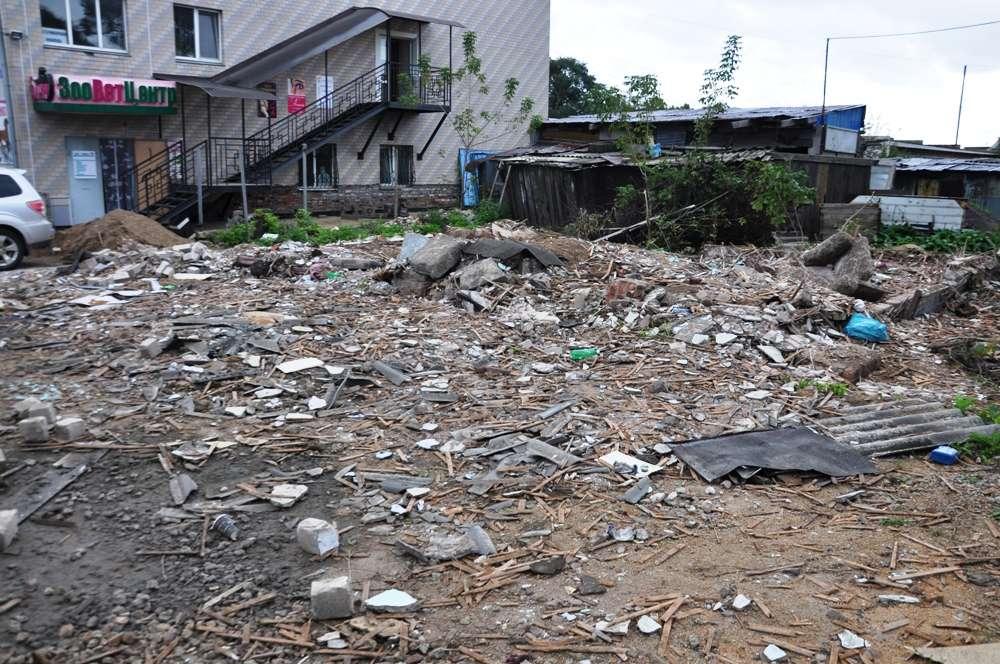 В Уссурийске продолжают снос домов