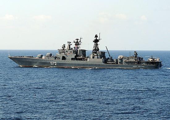 Моряки ТОФ вместе с китайскими коллегами отработали задачи по совместной ПВО