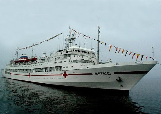 Плавучий госпиталь «Иртыш» взял курс на Владивосток