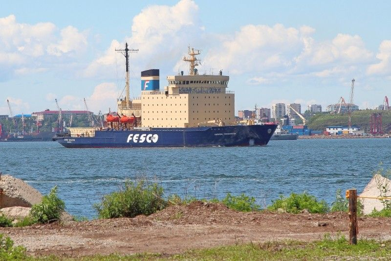 Ледокол FESCO «Капитан Хлебников» вернулся в порт Владивосток из круиза в Арктику