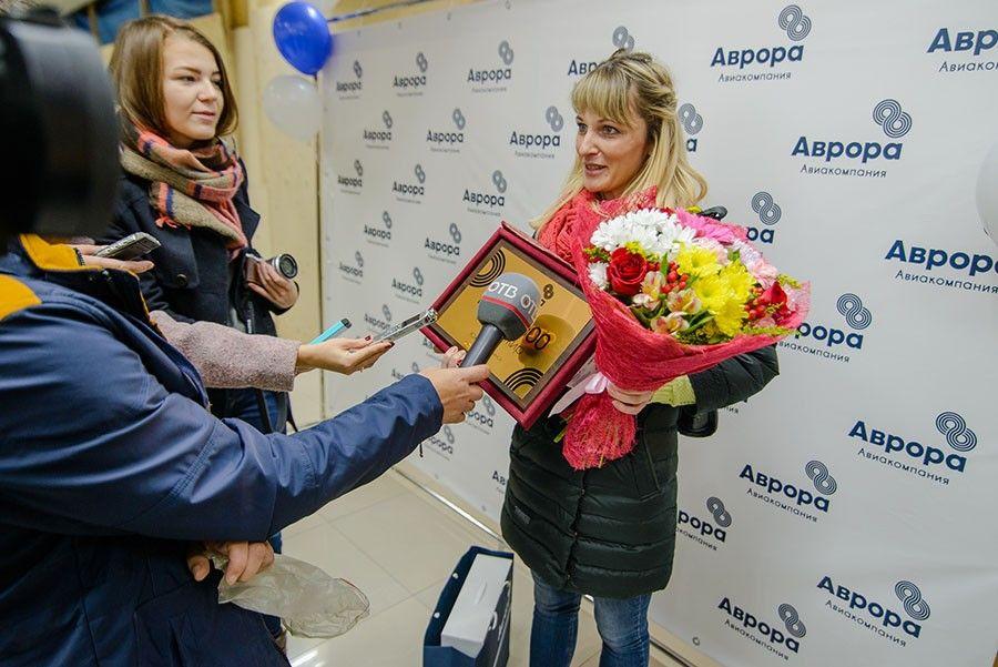 В 2016 году авиакомпания «Аврора» перевезла миллионного пассажира на два месяца раньше