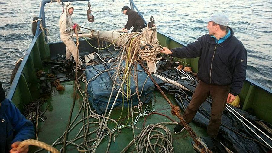 Уникальный случай: в Приморье яхтсмены достали со дна моря сломанную во время регаты мачту