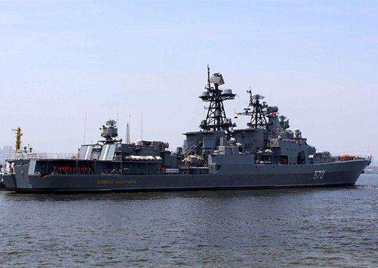 Корабли ТОФ после участия в совместном российско-китайском военно-морском учении вернулись во Владивосток