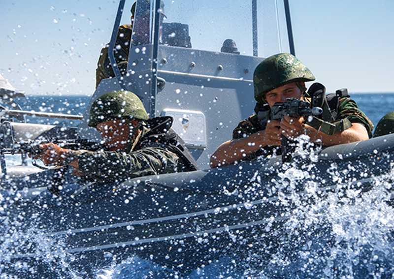 Морская пехота ТОФ продемонстрировала свою мощь