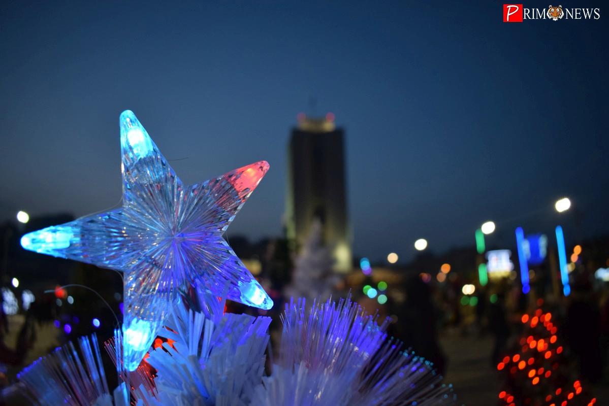 Владивосток встретил Новый год дружным кукареканьем и фейерверком