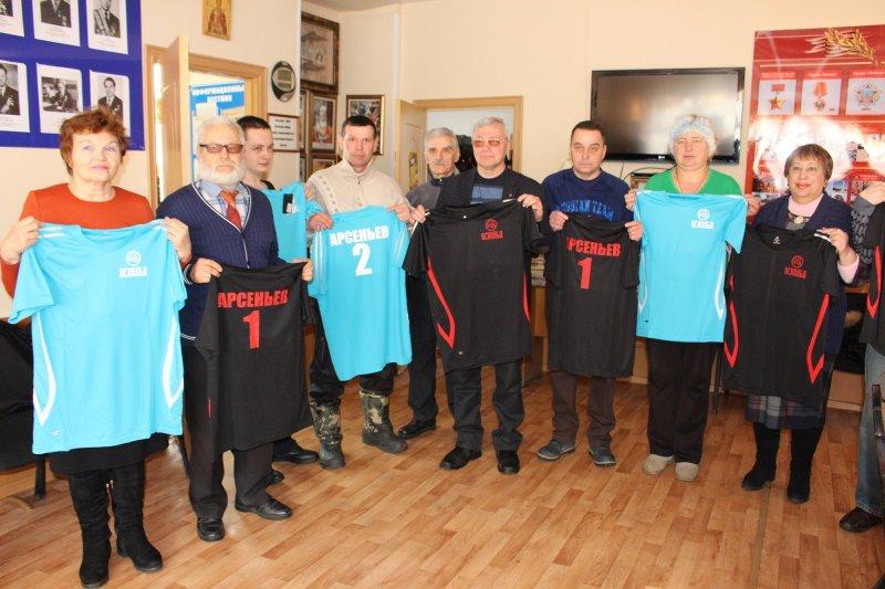 Обществу инвалидов Арсеньева подарили 24 комплекта спортивной формы
