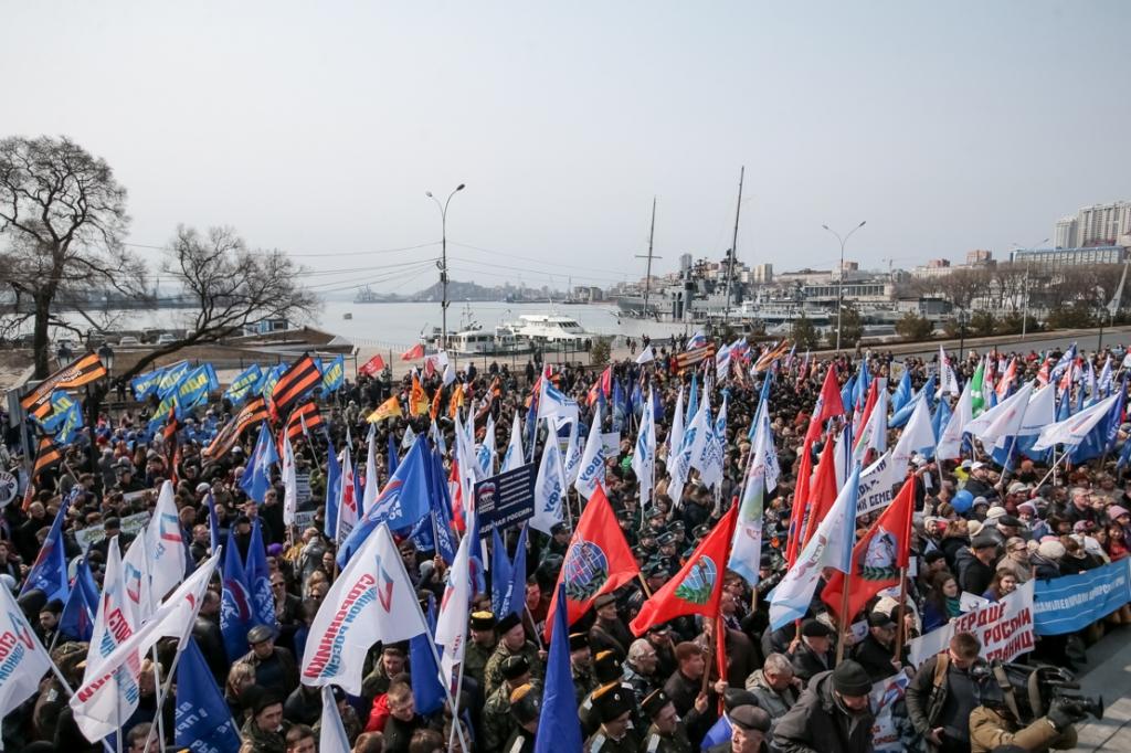 Во Владивостоке усомнились в том, что на «крымский» митинг пришло 17 тысяч человек