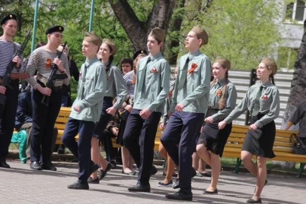 В преддверии Дня Победы в Православной гимназии Владивостока прошёл смотр строя и песни
