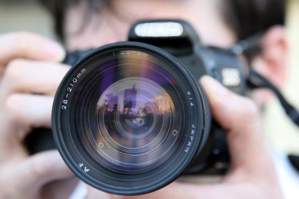 журналист, фотоаппарат, объектив
