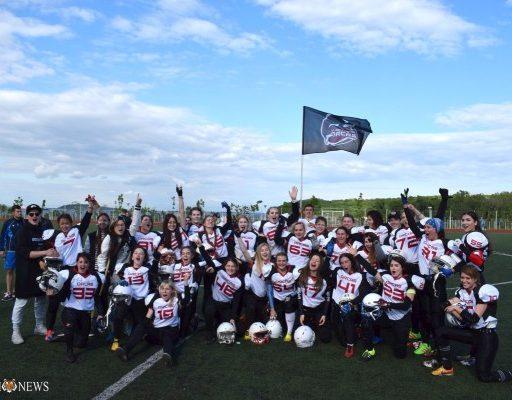 Женская команда по американскому футболу «Владивостокские Косатки» одержала первую победу