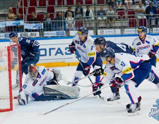 Хоккеисты «Адмирала» одержали волевую победу над корейцами