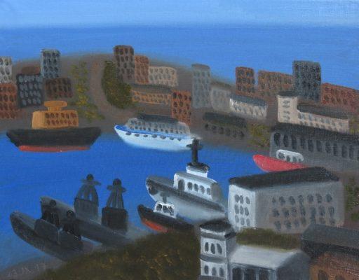 Владивосток и его окрестности, а также приморские вывески заинтересовали художников из Санкт-Петербурга