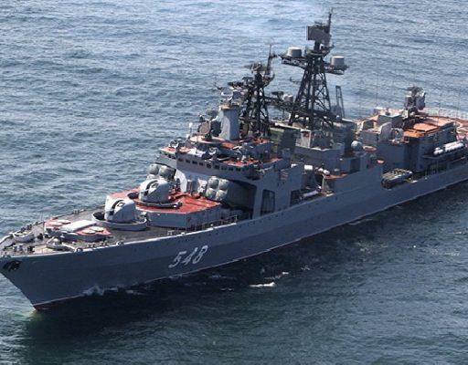 Экипаж БПК «Адмирал Пантелеев» ТОФ провёл с моряками ВМС Камбоджи совместное учение