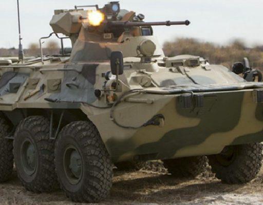 Военнослужащие ТОФ тестируют бронетранспортёры нового поколения БТР-82А