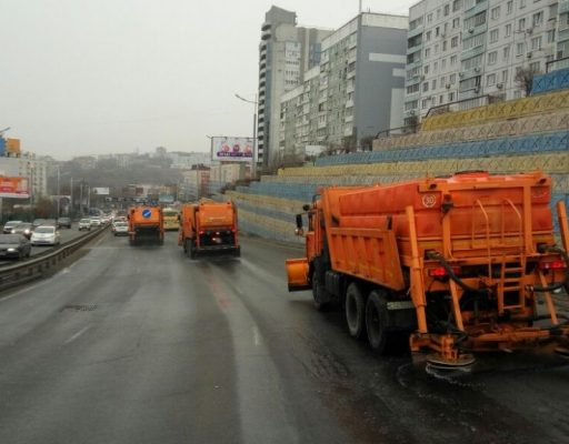 Во Владивостоке пошёл снег