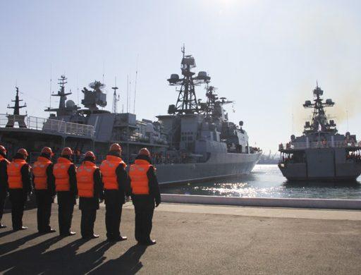 Большой противолодочный корабль ТОФ «Адмирал Виноградов» вернулся во Владивосток из дальнего похода