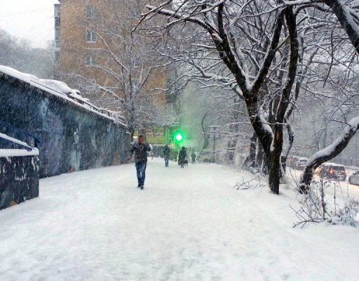 Почти два млн рублей направили на оплату услуг по вывозу снега во Владивостоке в 2018 году
