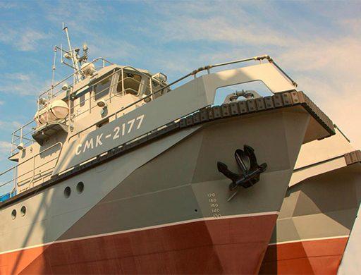 ТОФ пополнился новейшим многофункциональным модульным водолазным судном «СМК-2177»