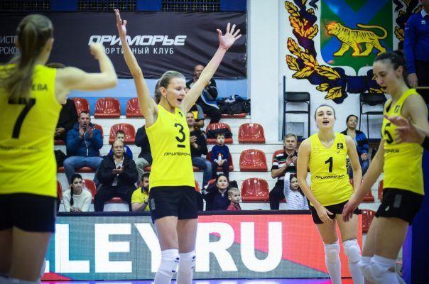 Волейболистки «Приморочки» победили одного из лидеров чемпионата России