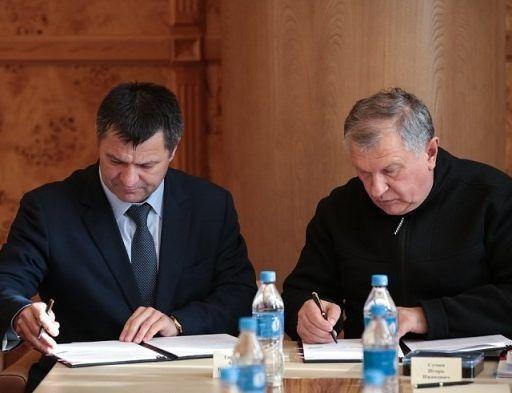 Андрей Тарасенко подписал соглашение о сотрудничестве с главой «Роснефти»