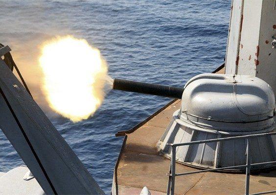 Большие противолодочные корабли ТОФ уничтожили невидимые береговые цели