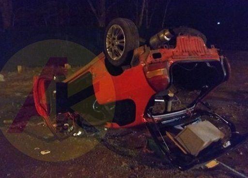 ДТП в Приморье: в результате сильнейшего удара перевернулась иномарка