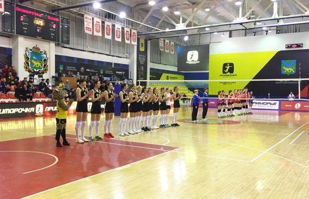 Волейболистки «Приморочки» победили «Олимп» в первом домашнем матче