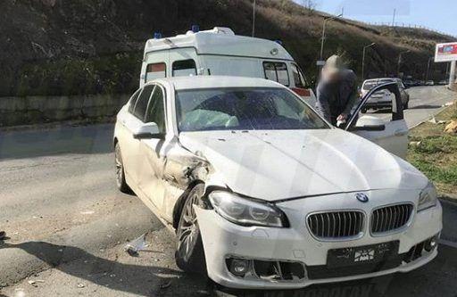 Во Владивостоке Nissan Terrano «влетел» в BMW