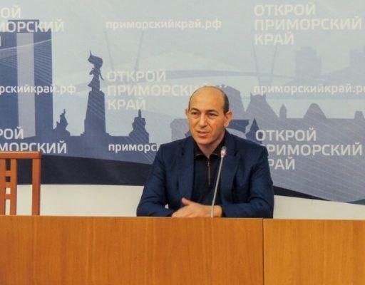 Вице-губернатор Приморского края Гагик Захарян в 2017 году заработал почти 57 млн рублей