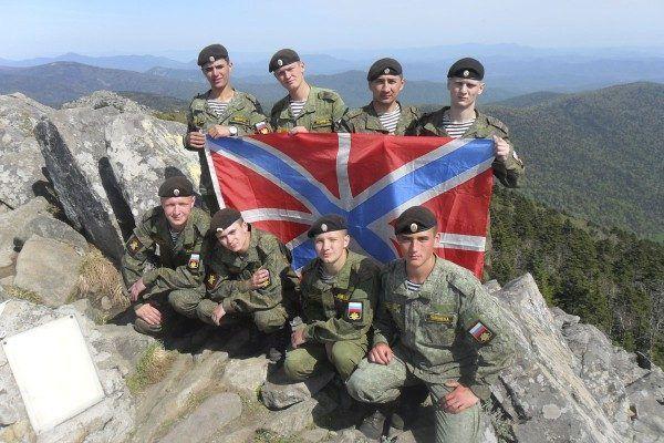 В честь Дня Тихоокеанского флота моряки поднялись на одну из высочайших вершин Приморья