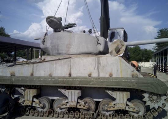 В Приморье восстановили поднятый со дна Баренцева моря американский танк «Шерман»