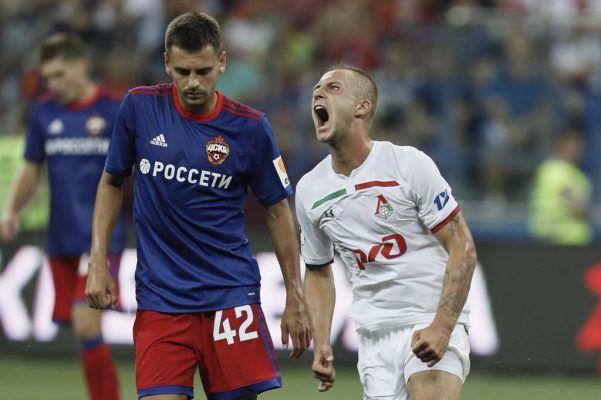 Матч «Локомотив» — ЦСКА завершился со счётом 0:1