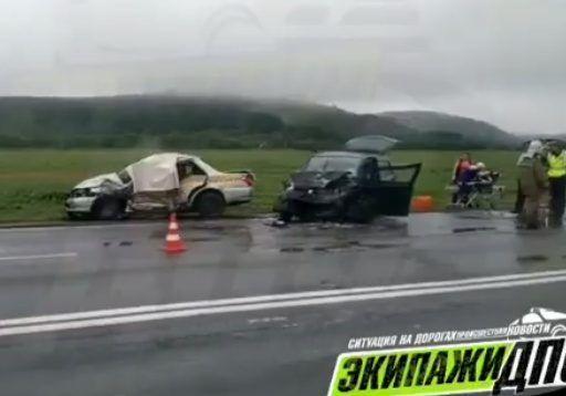 Таксист погиб в страшном ДТП в Приморье