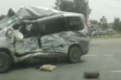 В груду металлолома превратился джип после страшного бокового удара в Приморье