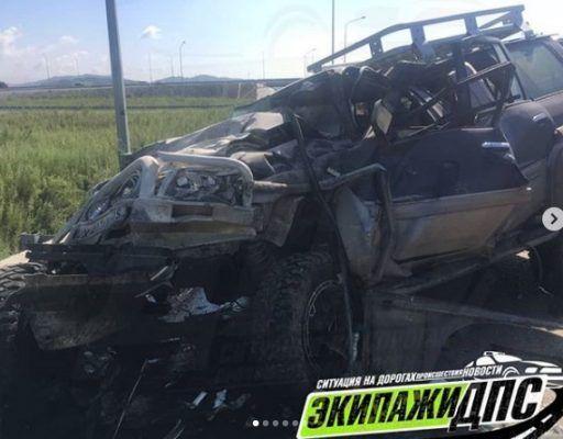 Кошмарное лобовое ДТП в Приморье унесло жизни двух человек