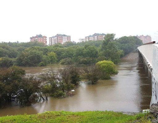 В Приморском крае из-за тайфуна подтопило целый город