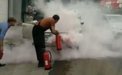 Во Владивостоке прямо на ходу загорелся автомобиль