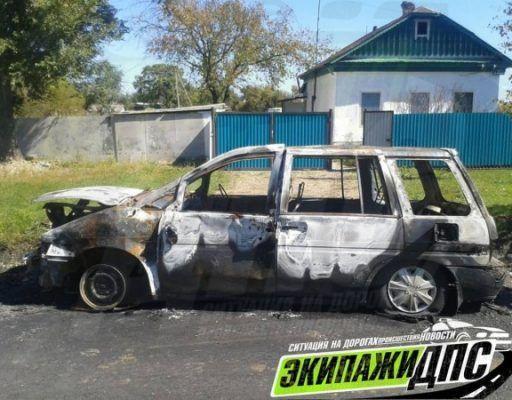 В приморском селе сожгли вторую машину за три дня